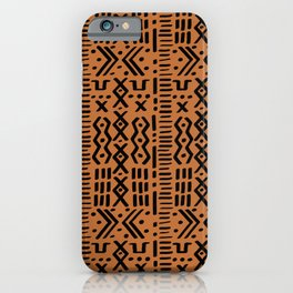 Mudcloth No. 1 in Ochre + Black iPhone Case