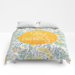 Stay Curious Comforters