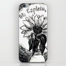 dead poet sunflower iPhone Skin