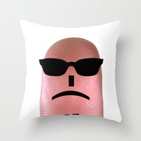 melissa smith Throw Pillows featuring smith by Panic Junkie