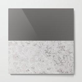 Monochrome Stone Metal Print