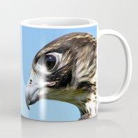 falcon Mugs featuring Peregrine Falcon by Christina Rollo