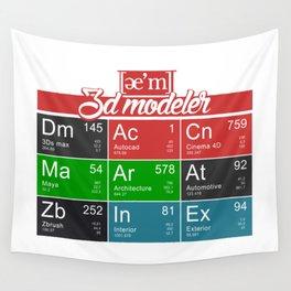 ae'm 3d modeler Wall Tapestry