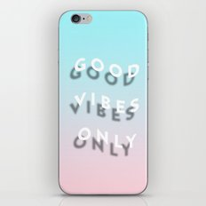 Good Vibes Only - Shadow Gradient - Vaporwave iPhone Skin