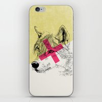 techno iPhone & iPod Skins featuring Techno Wolf by Zeke Tucker