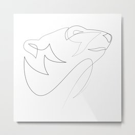 one line polar bear Metal Print