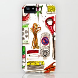 Vintage Sewing Notions iPhone Case