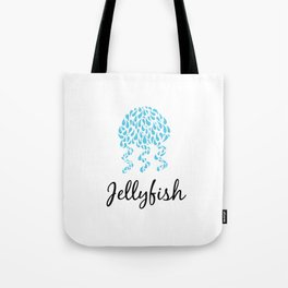 Jellyfish White Tote Bag
