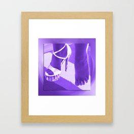 Cinders lost her shoe Framed Art Print