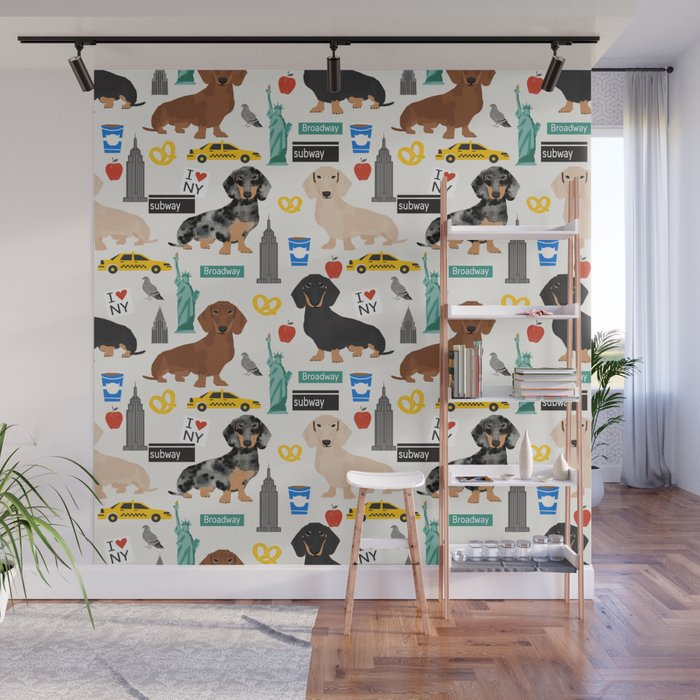 Dachshund Dog Breed Nyc New York City Pet Pattern Doxie Coats Dapple