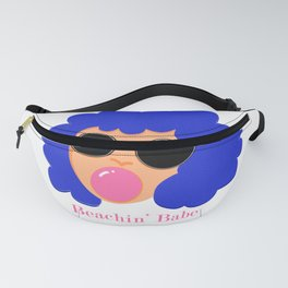 summer girl with bubblegum Fanny Pack