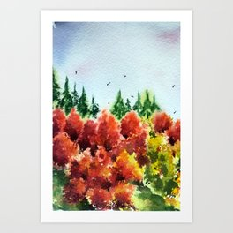 Colours of the Fall (2) Art Print