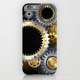 Steampunk Steel Gears iPhone Case