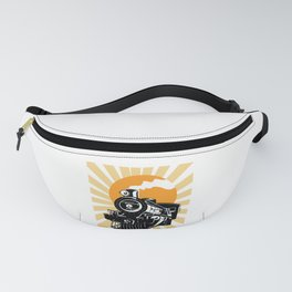 Retro Vintage Locomotive Train Steam Engine Fanny Pack
