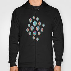 Floating Gems - a pattern of painted polygonal shapes Hoody