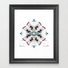 apu  nahasapeemapetilon to groundskeeper willie abstract Framed Art Print