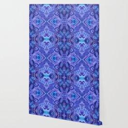 Indigo Ink Tie-dye Hippie Print Wallpaper