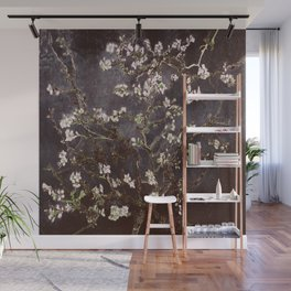 Vincent Van Gogh Almond Blossoms dark gray slate Wall Mural