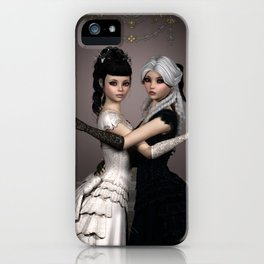 Beautiful Ladies and a difficult choice iPhone Case