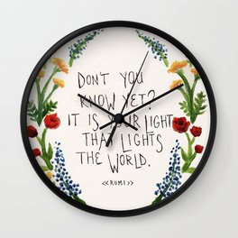 For Maddy.  Wall Clock