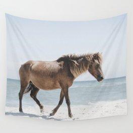 Horse Horse beach Wall Tapestry