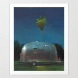 Airstream at Dusk Art Print