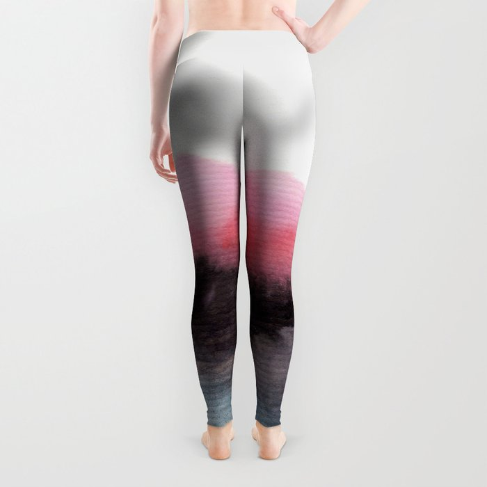 Watercolor abstract landscape 10 Leggings