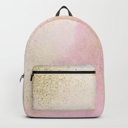 Pretty In Pink And Gold Delicate Abstract Painting Backpack