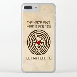 The Maze Isn't Meant for You, But My Heart Is Clear iPhone Case