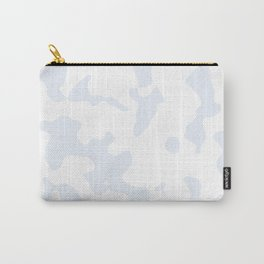 Large Spots - White and Pastel Blue Carry-All Pouch