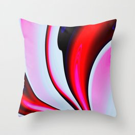 Abstract Fractal Colorways 02BPk Throw Pillow