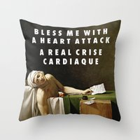 vampire weekend Throw Pillows featuring Neoclassical Weekend by Modern Vampires of Art History