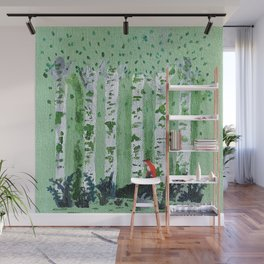 Forest Wolf Acrylic Painting Wall Mural