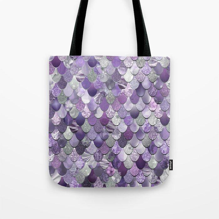 Mermaid Purple and Silver Umhängetasche