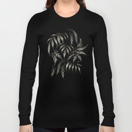 Brooklyn Forest - Black Long Sleeve T-shirt