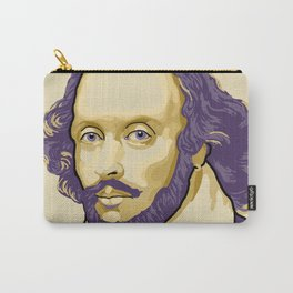 Shakespeare - royal purple and yellow Carry-All Pouch
