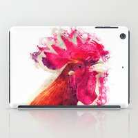 rooster iPad Cases featuring Rooster by jbjart