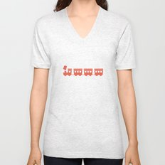 The Essential Patterns of Childhood - Train Unisex V-Neck