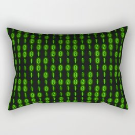 Binary Code Inside Rectangular Pillow
