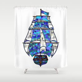 Pirate Ship [Multicolored] Shower Curtain