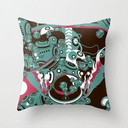 Buoyant world Throw Pillow