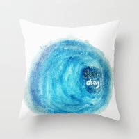 okay Throw Pillows featuring Okay. by Tiny M