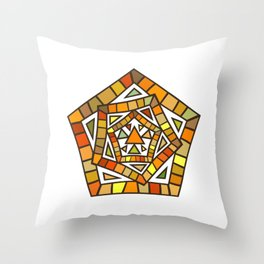 Modern Art: Mix of Pentagram Lines and Triangles Throw Pillow