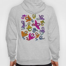 colorful flying witches Hoody