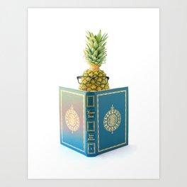 The Studious Pineapple Art Print