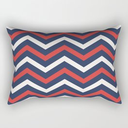 Chevron pattern nautical Rectangular Pillow