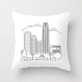 Santiago en línea Throw Pillow