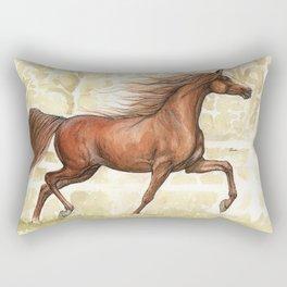 Running horse watercolor art Rectangular Pillow