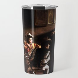 Caravaggio The Calling of Saint Matthew Travel Mug