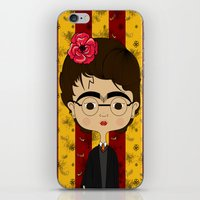 potter iPhone & iPod Skins featuring Frida Potter by Camila Oliveira